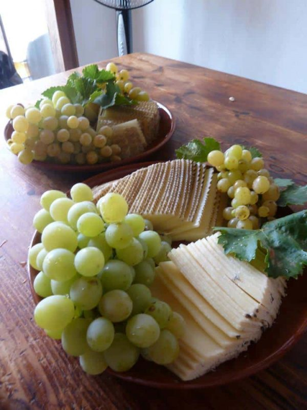 local cheeses with Grapes